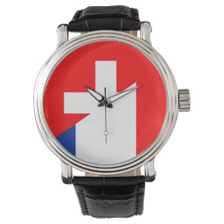 switzerland france flag country half symbol swiss watch