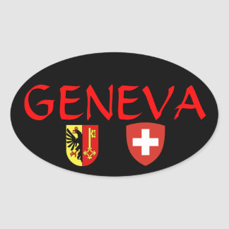 Switzerland, Geneva* oval sticker