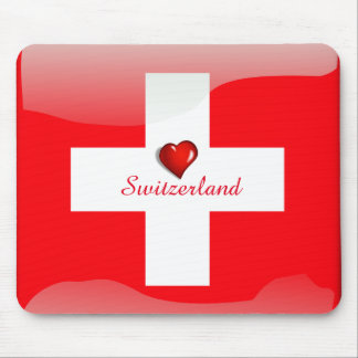 Switzerland glossy flag mouse pad