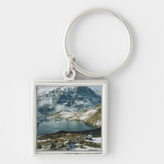 Switzerland, Grindelwald, Bernese Alps, View Silver-Colored Square Key Ring