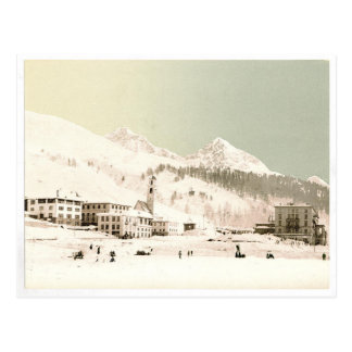 Switzerland in winter postcard