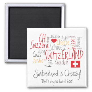 Switzerland is Cheesy: For Fondue Lovers! Magnet