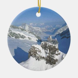 Switzerland, Jungfraujoch, top of Europe Ceramic Ornament