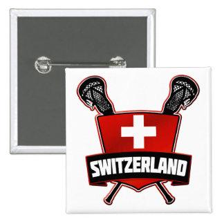 Switzerland Lacrosse Logo Pin