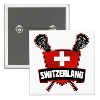 Switzerland Lacrosse Logo Pinback Button