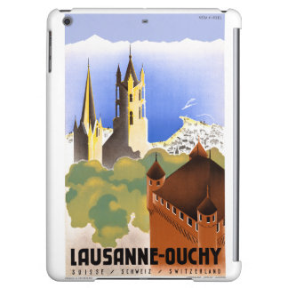 Switzerland Lausanne Ouchy Vintage Travel Poster