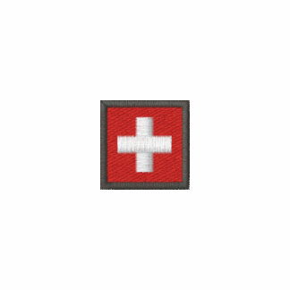 Switzerland Long Sleeve T Shirt With Swiss Flag