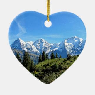 Switzerland Majestic Beautiful Mountains Ceramic Ornament