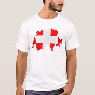 Switzerland Map and Flag T-Shirt