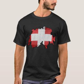 Switzerland Map Flag T-Shirt