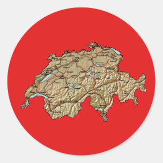 Switzerland Map Sticker