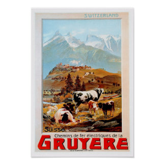 Switzerland Mountain Poster