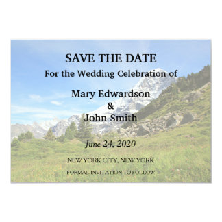 Switzerland mountain wedding Eiger Save the Date Card