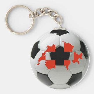 Switzerland national team basic round button key ring
