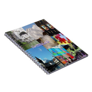 Switzerland Photo Collage Spiral Notebook