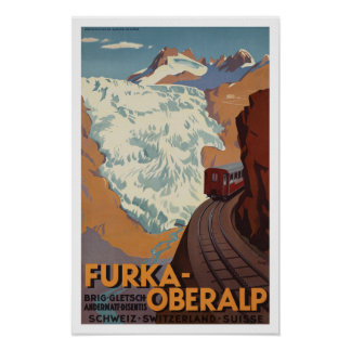 Switzerland Railway Train ~ Vintage Travel Poster