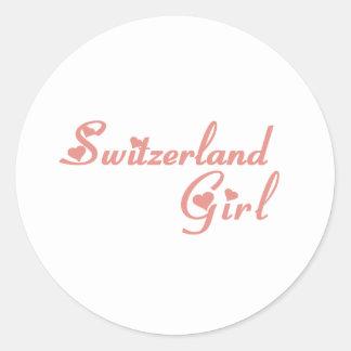 Switzerland Round Sticker
