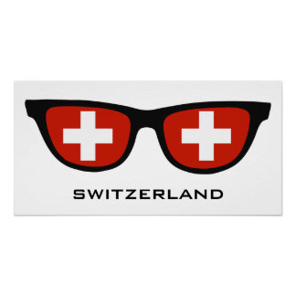 Switzerland Shades custom text & color poster