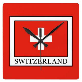 Switzerland Square Wall Clock