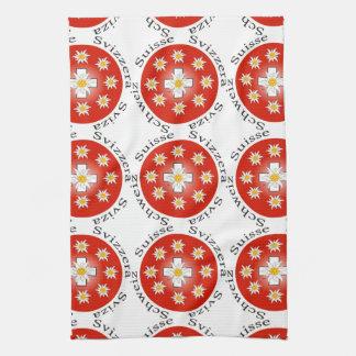 Switzerland - Suisse - Svizzera of table-ware Tea Towel