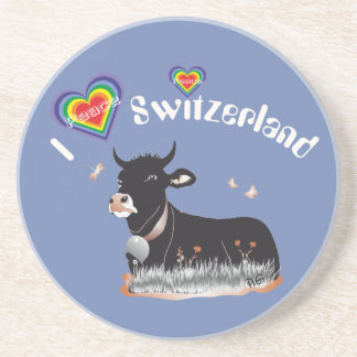 Switzerland Suisse Svizzera Svizra beer cover Coaster