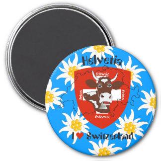 Switzerland Suisse Svizzera Svizra Switzerland mag 7.5 Cm Round Magnet