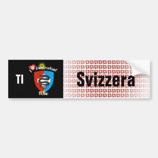 Switzerland Svizzera Suisse Tessin autosticker Bumper Sticker