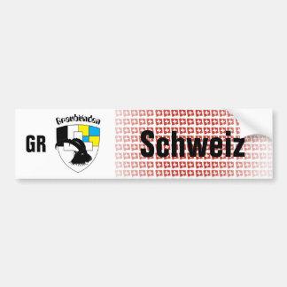 Switzerland Svizzera Svizra Graubünden autosticker Bumper Sticker