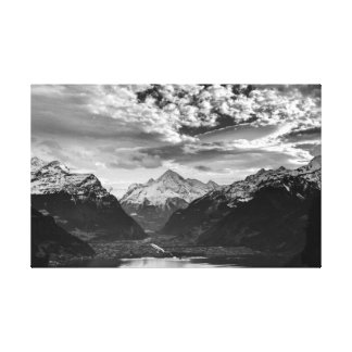 Switzerland Swiss Alps Canvas Fine Art PrintPoster