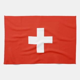 switzerland swiss country flag towel