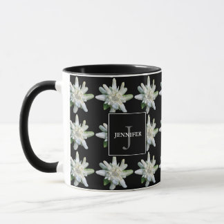 Switzerland Swiss Edelweiss monogram name souvenir Mug