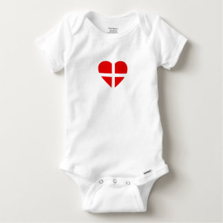 Switzerland/Swiss flag-inspired Hearts Baby Onesie
