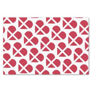 Switzerland/Swiss Flag-inspired Hearts Tissue Paper