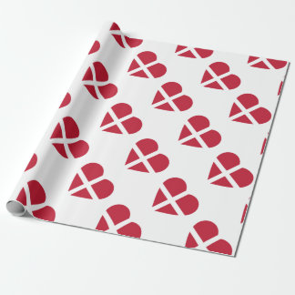 Switzerland/Swiss Flag-inspired Hearts Wrapping Paper