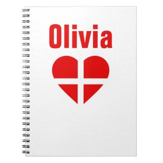 Switzerland/Swiss flag-inspired Personnalised Notebooks