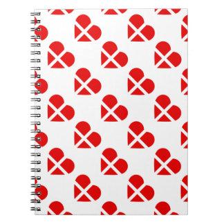 Switzerland/Swiss flag-inspired Personnalised Spiral Notebook