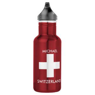 Switzerland Swiss flag red travel personal 532 Ml Water Bottle