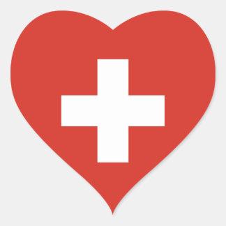 Switzerland/Swiss Heart Flag Heart Sticker