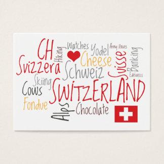 Switzerland Swiss Theme Tourism Business Cards
