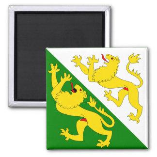 Switzerland Thurgau Flag Fridge Magnet