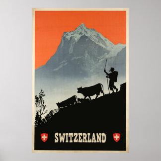 Switzerland, Travel Poster