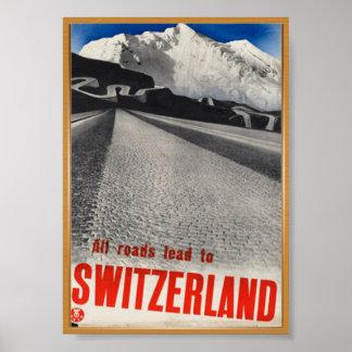 Switzerland Vintage Poster