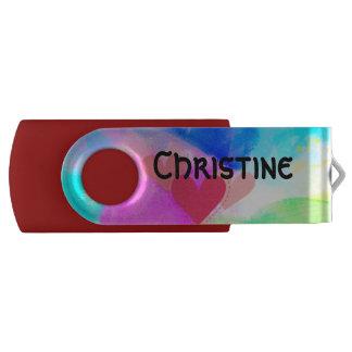 Swivel custumizable 8 GB USB, RED USB Flash Drive