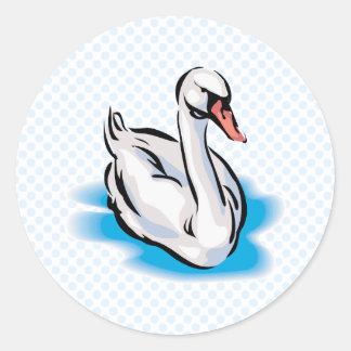 Swonald Swan Round Sticker