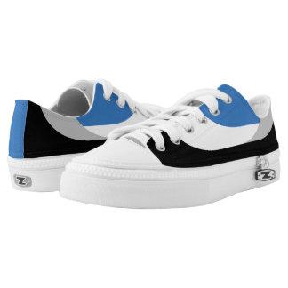 Swooping Lines Low Top Sneakers - Blue