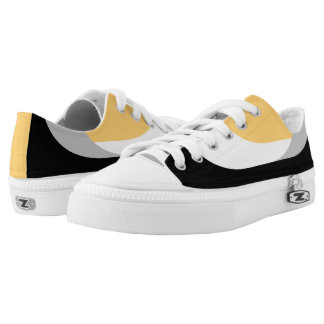 Swooping Lines Low Top Sneakers - Yellow
