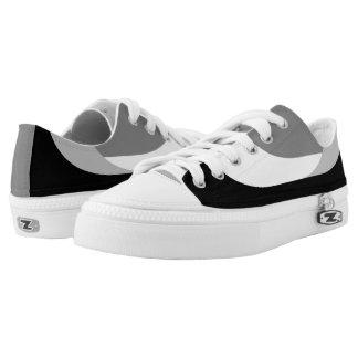 Swooping Lines Mono Low Top Sneakers