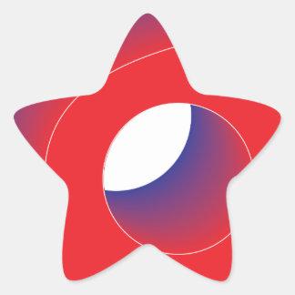 swoosh star sticker
