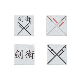 Sword Fighter Stone Magnet