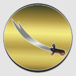 Sword of Ali Round Stickers